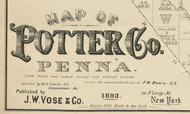 PotterCo_1893_cartou.jpg, Pennsylvania 1893 - NOT FOR SALE - Potter Co.