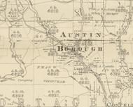 Austin Township, Pennsylvania 1893 Old Town Map Custom Print - Potter Co.