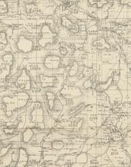 Clara Township, Pennsylvania 1893 Old Town Map Custom Print - Potter Co.