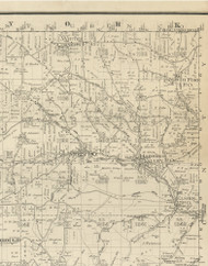 Harrison Township, Pennsylvania 1893 Old Town Map Custom Print - Potter Co.