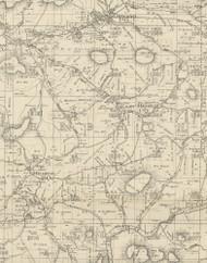 Hebron Township, Pennsylvania 1893 Old Town Map Custom Print - Potter Co.