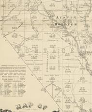 Portage Township, Pennsylvania 1893 Old Town Map Custom Print - Potter Co.