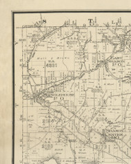 Singlehouse Township, Pennsylvania 1893 Old Town Map Custom Print - Potter Co.