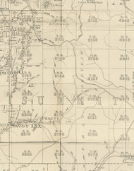 Summit Township, Pennsylvania 1893 Old Town Map Custom Print - Potter Co.
