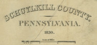 Title of Source Map - Schuylkill Co., Pennsylvania 1830 - NOT FOR SALE - Schuylkill Co.
