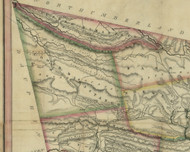 Lower Mahantango Township, Pennsylvania 1830 Old Town Map Custom Print - Schuylkill Co.
