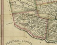 Pine Grove Township, Pennsylvania 1830 Old Town Map Custom Print - Schuylkill Co.