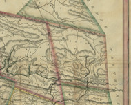 Rush Township, Pennsylvania 1830 Old Town Map Custom Print - Schuylkill Co.