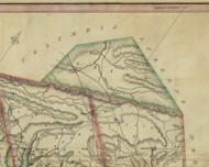 Union Township, Pennsylvania 1830 Old Town Map Custom Print - Schuylkill Co.