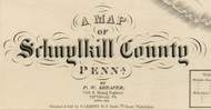 Title of Source Map - Schuylkill Co., Pennsylvania 1855 - NOT FOR SALE - Schuylkill Co.