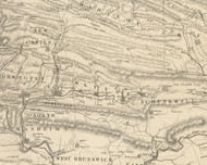 Blythe Township, Pennsylvania 1855 Old Town Map Custom Print - Schuylkill Co.