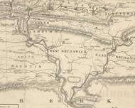 West Brunswick Township, Pennsylvania 1855 Old Town Map Custom Print - Schuylkill Co.
