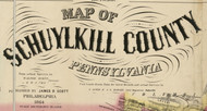 Title of Source Map - Schluylkill Co., Pennsylvania 1864 - NOT FOR SALE - Schuylkill Co.