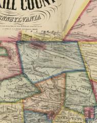 Butler Township, Pennsylvania 1864 Old Town Map Custom Print - Schuylkill Co.