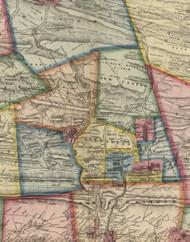 Cass Township, Pennsylvania 1864 Old Town Map Custom Print - Schuylkill Co.