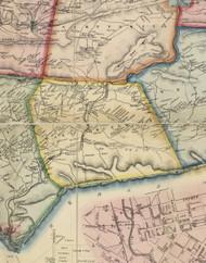 East Brunswick Township, Pennsylvania 1864 Old Town Map Custom Print - Schuylkill Co.