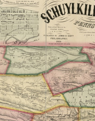 Eldred Township, Pennsylvania 1864 Old Town Map Custom Print - Schuylkill Co.