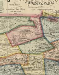 Foster Township, Pennsylvania 1864 Old Town Map Custom Print - Schuylkill Co.