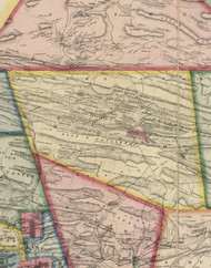 Mahanoy Township, Pennsylvania 1864 Old Town Map Custom Print - Schuylkill Co.