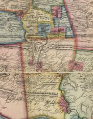 North Manheim Township, Pennsylvania 1864 Old Town Map Custom Print - Schuylkill Co.