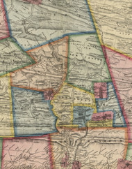 Norwegian Township, Pennsylvania 1864 Old Town Map Custom Print - Schuylkill Co.