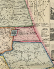 Rahn Township, Pennsylvania 1864 Old Town Map Custom Print - Schuylkill Co.