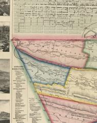 Upper Mahantango Township, Pennsylvania 1864 Old Town Map Custom Print - Schuylkill Co.