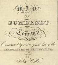 Title of Source Map - Somerset Co., Pennsylvania 1830 - NOT FOR SALE - Somerset Co.