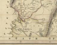Addison Township, Pennsylvania 1830 Old Town Map Custom Print - Somerset Co.