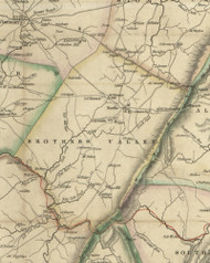 Brothers Valley Township, Pennsylvania 1830 Old Town Map Custom Print - Somerset Co.