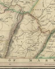 Elklick Township, Pennsylvania 1830 Old Town Map Custom Print - Somerset Co.