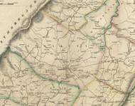 Somerset Township, Pennsylvania 1830 Old Town Map Custom Print - Somerset Co.