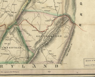 Southampton Township, Pennsylvania 1830 Old Town Map Custom Print - Somerset Co.