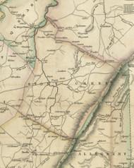 Stony Creek Township, Pennsylvania 1830 Old Town Map Custom Print - Somerset Co.
