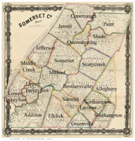 Towns on Source Map - Somerset Co., Pennsylvania 1860 - NOT FOR SALE - Somerset Co.