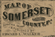 Title of Source Map - Somerset Co., Pennsylvania 1860 - NOT FOR SALE - Somerset Co.