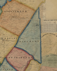 Allegheny Township, Pennsylvania 1860 Old Town Map Custom Print - Somerset Co.
