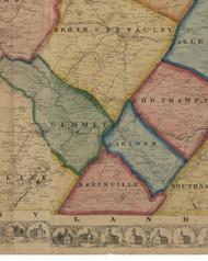 Greenville Township, Pennsylvania 1860 Old Town Map Custom Print - Somerset Co.