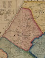 Jenner Township, Pennsylvania 1860 Old Town Map Custom Print - Somerset Co.