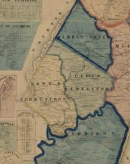 Lower Turkeyfoot Township, Pennsylvania 1860 Old Town Map Custom Print - Somerset Co.
