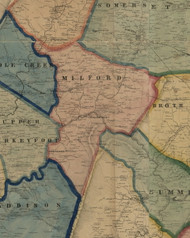 Milford Township, Pennsylvania 1860 Old Town Map Custom Print - Somerset Co.