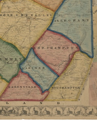 Northampton Township, Pennsylvania 1860 Old Town Map Custom Print - Somerset Co.