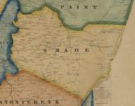 Shade Township, Pennsylvania 1860 Old Town Map Custom Print - Somerset Co.