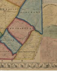 Southampton Township, Pennsylvania 1860 Old Town Map Custom Print - Somerset Co.