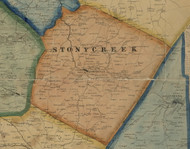 Stonycreek Township, Pennsylvania 1860 Old Town Map Custom Print - Somerset Co.