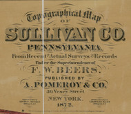 Title of Source Map - Sullivan Co., Pennsylvania 1872 - NOT FOR SALE - Sullivan Co.