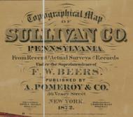 Title of Source Map - Sullivan Co., Pennsylvania 1872 - NOT FOR SALE - Sullivan Co.