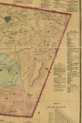 Colley Township, Pennsylvania 1872 Old Town Map Custom Print - Sullivan Co.