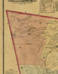 Fox Township, Pennsylvania 1872 Old Town Map Custom Print - Sullivan Co.