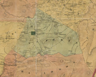 Laporte Township, Pennsylvania 1872 Old Town Map Custom Print - Sullivan Co.